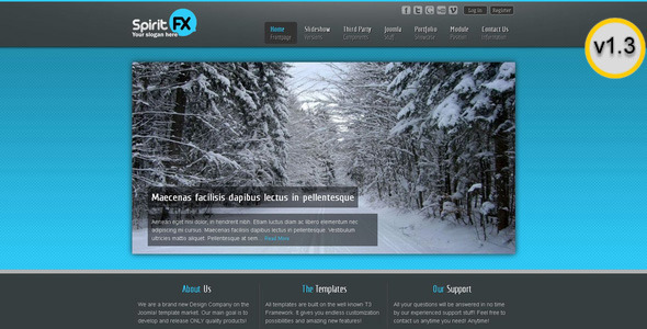 SpiritFX – Business and Portfolio Template Joomla Creative