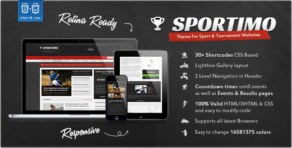 Sportimo - Sport & Events Magazine HTML Template Entertainment