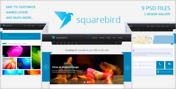 Squarebird - PSD Multipurpose Theme Corporate