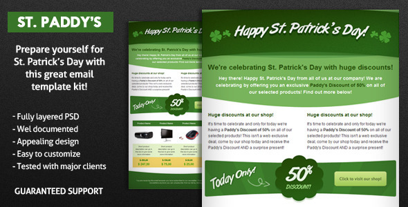 St. Paddy's E-Mail Template