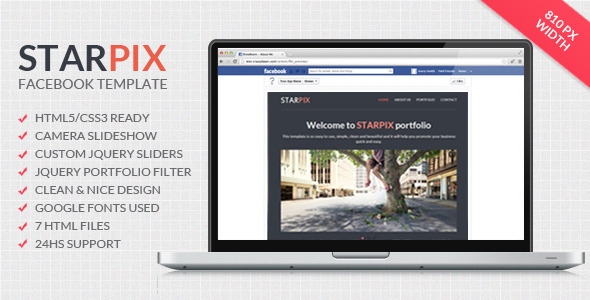 Starpix - Multipurpose Facebook Template Miscellaneous Specialty Page
