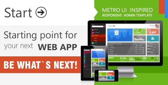 Start - Metro UI  Responsive Admin Template AdminTemplates