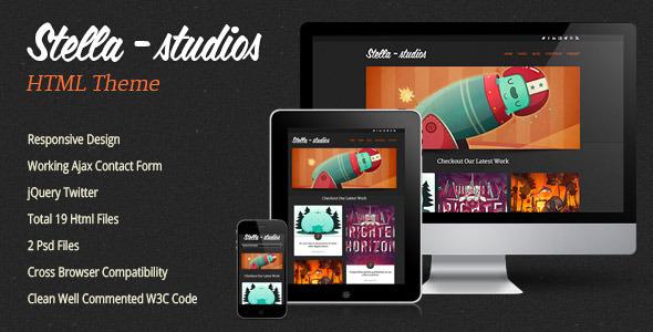 Stella Studios Responsive Html Template Creative