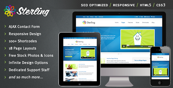 Sterling - HTML5 Responsive Web Template Corporate
