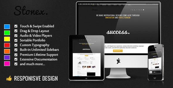 Stonex - Business Responsive WordPress Themed Corporate