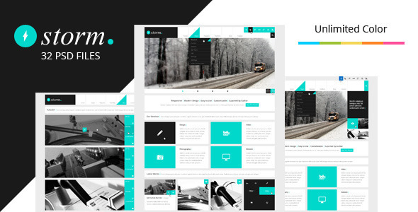 Storm 1.3 - Multipurpose PSD Theme Corporate