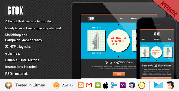 Stox - Responsive Store Template EmailTemplates Email Template
