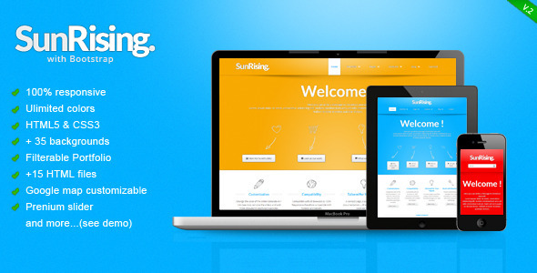 SunRising - Fresh Responsive Template Corporate