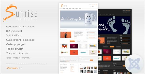 Sunrise - Premium Joomla Template Corporate