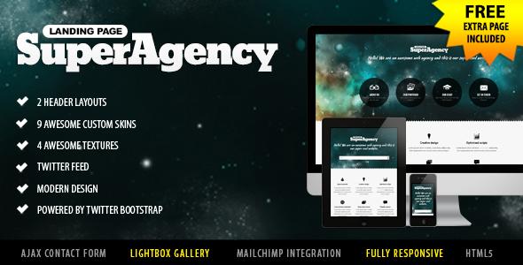 Super Agency - Responsive Landing Page LandingPages Landing Page