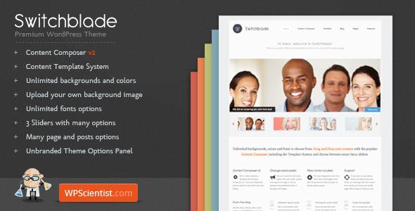 Switchblade - Powerful WordPress Theme Corporate