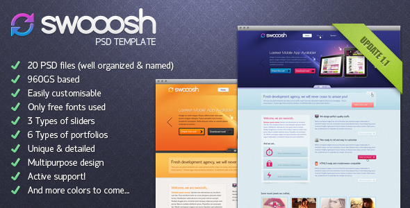 Swooosh - Multipurpose PSD Template Creative