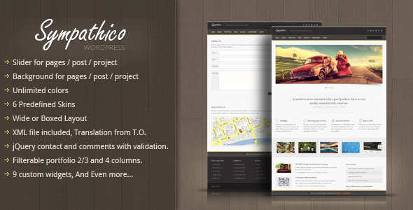 Sympathico - Premium WordPress Theme Corporate