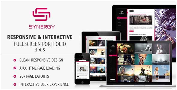 Synergy - Responsive & Interactive HTML Portfolio Template
