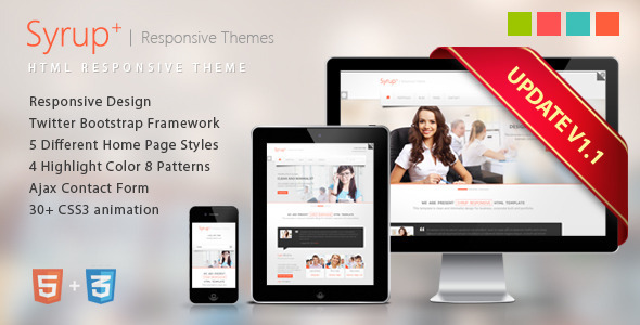 Syrup Responsive HTML Theme Template Corporate