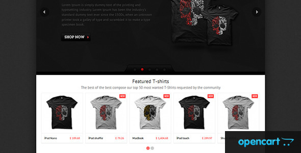 T-shirts - OpenCart Theme Fashion