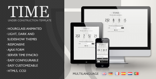 TIME - Responsive Under Construction Template Specialty Page