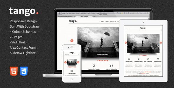 Tango - Responsive HTML5 Template Creative