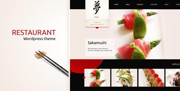 Taste of Japan - Restaurant / Food Wordpress Them Retail