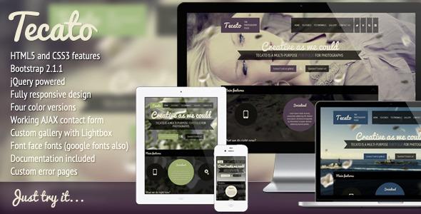 Tecato - Creative HTML5 one page portfolio Template Creative