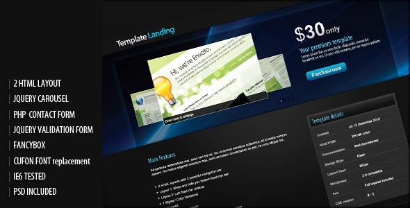 Template or item landing page LandingPages Landing Page