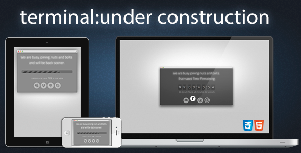 Terminal Under Construction Page Template Specialty Page
