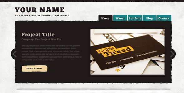 Textured Portfolio Site PSD Creative