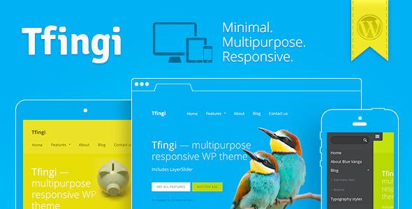 Tfingi • Responsive Multipurpose WordPress Theme Corporate