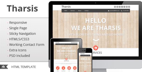 Tharsis - Responsive Portfolio Template Creative