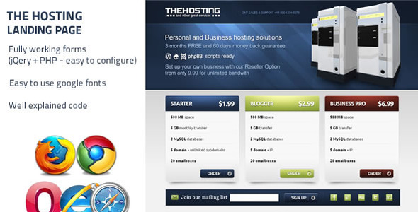 The Hosting - Landing Page LandingPages Landing Page