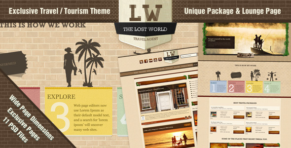 The Lost World - A Travel / Resort PSD Theme Retail