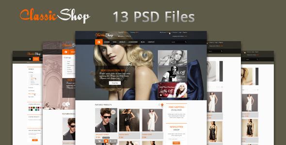 The Online Shop - PSD Templates Retail