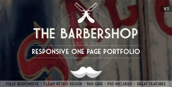The Barbershop - Responsive Portfolio Template Creative
