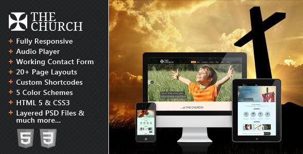 The Church - Responsive Site Template Nonprofit