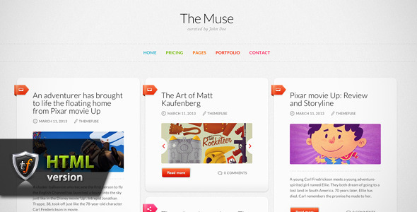 The Muse - Inspiration HTML Theme Template Personal