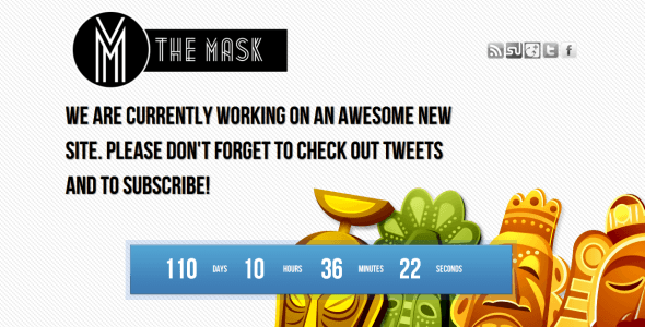The Mask Coming Soon Template Specialty Page