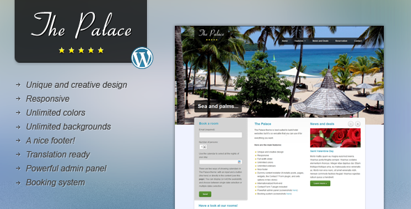 The Palace - Hotel and Business WordPress Theme Retail