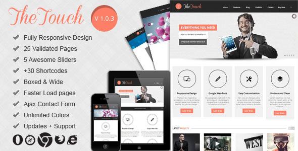 TheTouch   Multi-Purpose Site Template Corporate