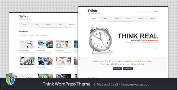 Think - Responsive Corporate WordPress Theme Corporate