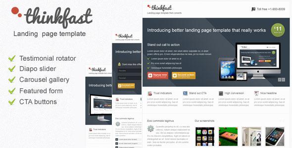 Thinkfast multi purpose landing page template LandingPages Landing Page