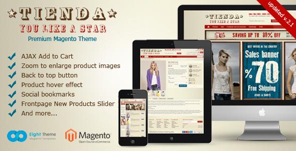Tienda Magento Theme Fashion