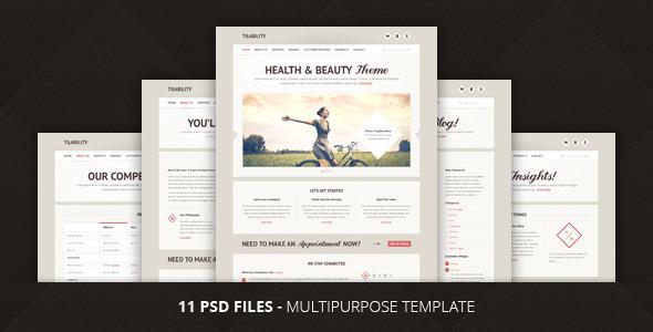 Tilability | Health & Beauty PSD Template Retail