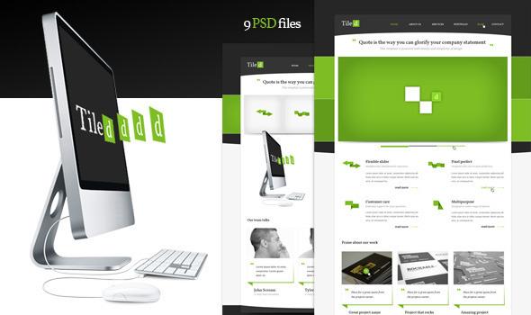 Tiled - Multipurpose PSD Theme Corporate