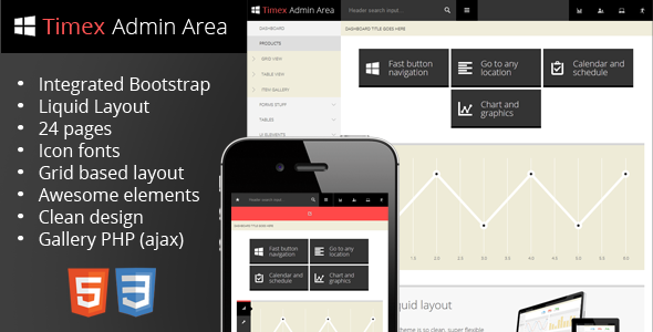 Timex - Bootstrap Admin Theme SiteTemplates