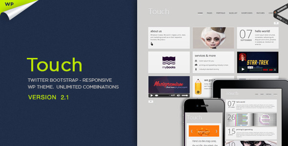 Touch Responsive & Bootstrap WordPress Theme Creative