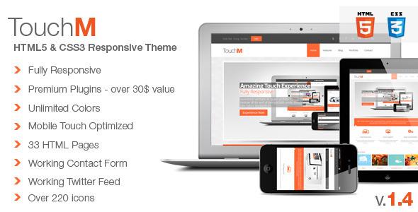 TouchM Premium HTML5 Multipurpose Responsive Template Corporate