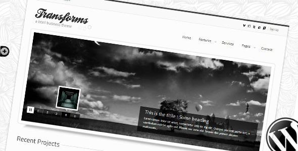 Transform Wordpress theme Creative
