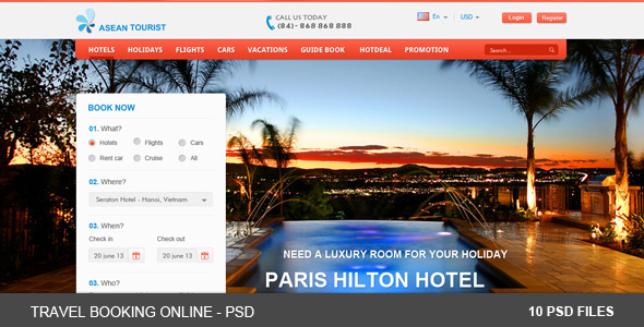 Travel Booking Online - PSDs Retail