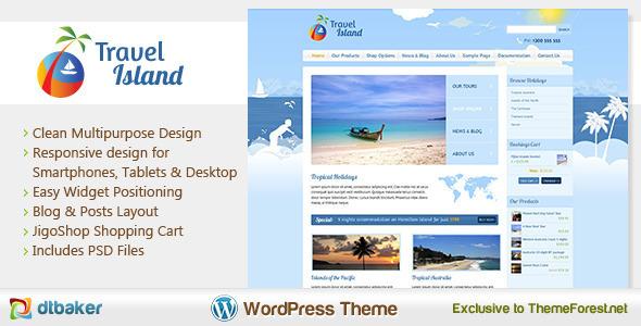 Travel Island - Responsive JigoShop e-Commerce WordPress Theme eCommerce