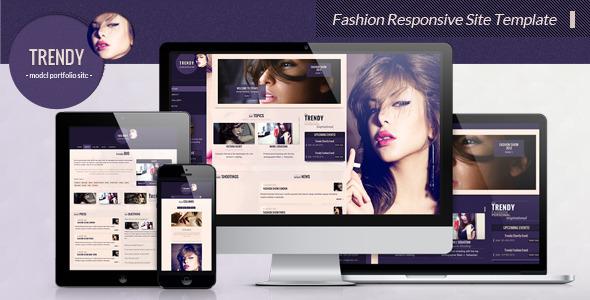 Trendy - Fashion Responsive Site Template Creative